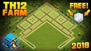 New Th12 Farming Base Replays Coc Town Hall 12 Free Shield