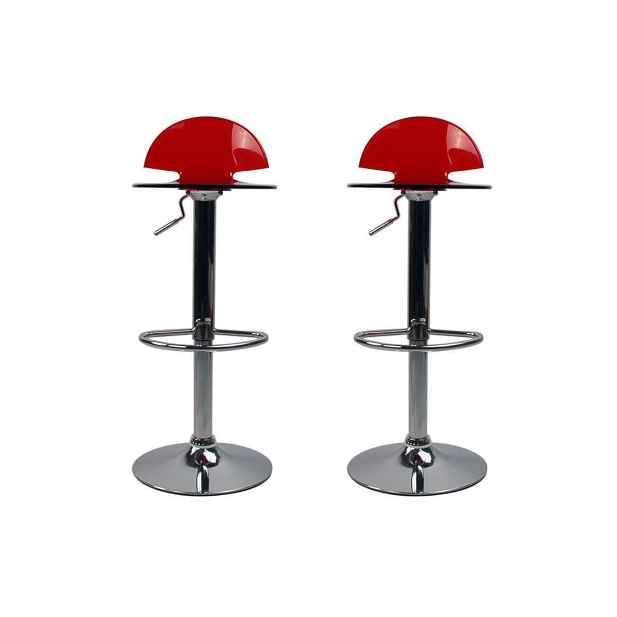 Lot De 2 Tabouret De Bar.Tabouret De Bar Design Plexiglas Lot De 2 Orion Products
