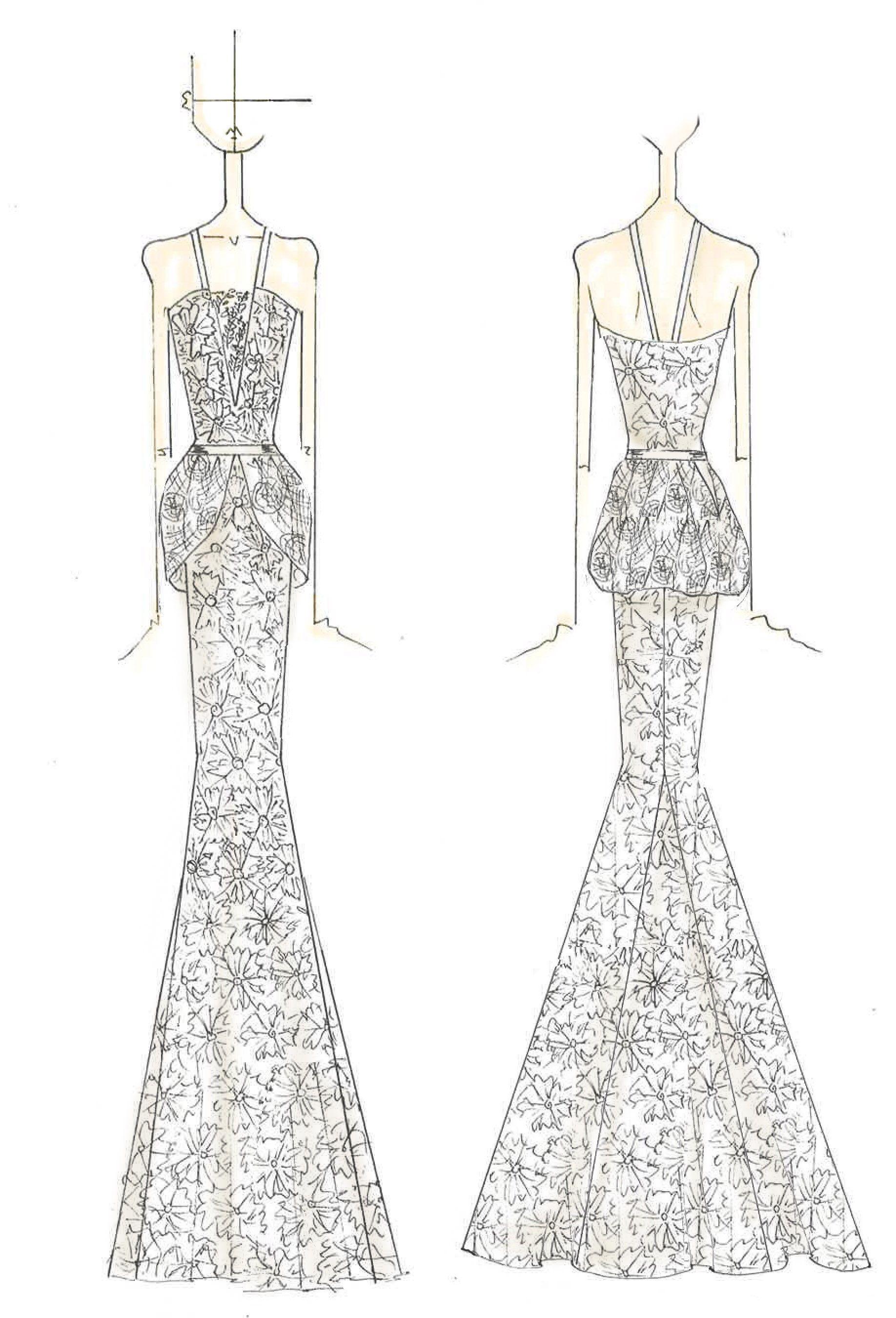 lace dress drawing wwwpixsharkcom images galleries