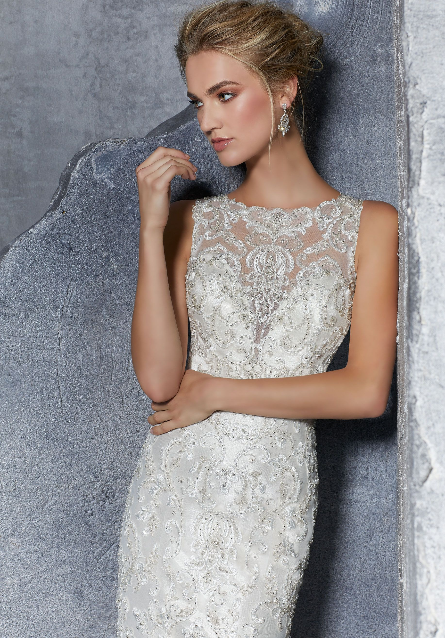 Grey lace wedding dress  High cut beaded and lace gown  Bridal Gowns  Pinterest  Gowns