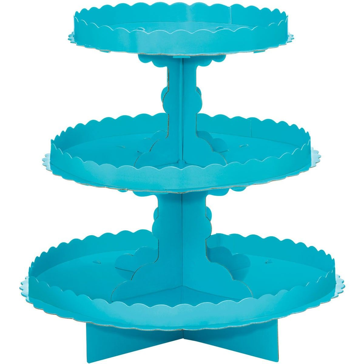 Treat Stands 3 Tier Caribbean Blue Treat Stand Cupcake Tiers Stand Caribbean Party Decorations
