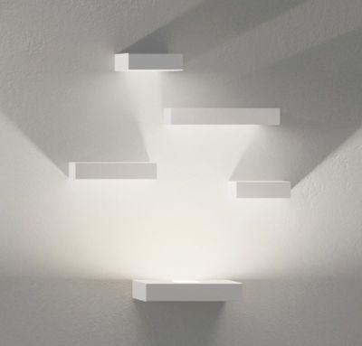 Applique a led in metallo virgola nichel opaco   20x12x9 cm ...
