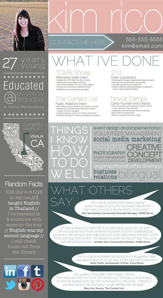 Custom Designed Graphic Resume by ANCHORandVINE on Etsy, $100.00 ...