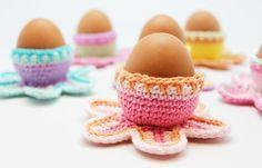 Eierbecher Häkeln Für Ostern Häkelmuster Für Blumen