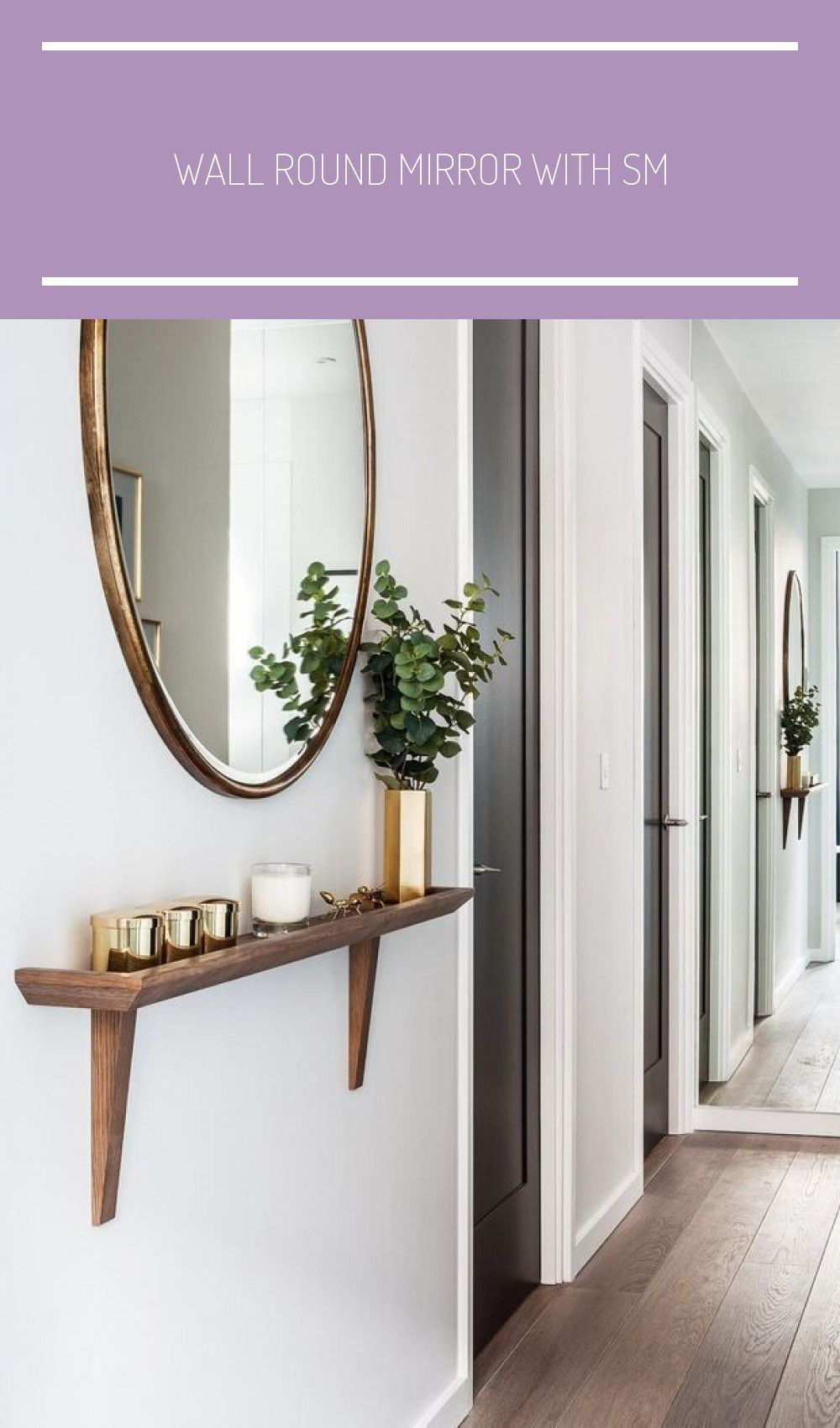 Wall Round Mirror With Small Shelf Feng Shui Decor Mirror How To Feng Shui Your Entryway Eingangsbereich Haus Modern In 2020 Small Hallways Hallway Decorating Decor