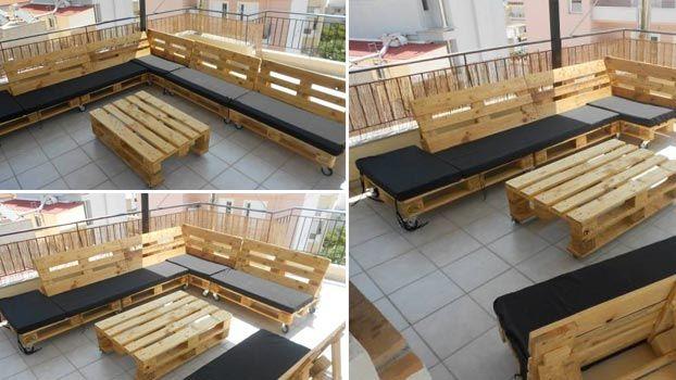 mobili e bancali: come costruire mobili con dei pallet di habitissimo. - Idee Mobili Per Esterni