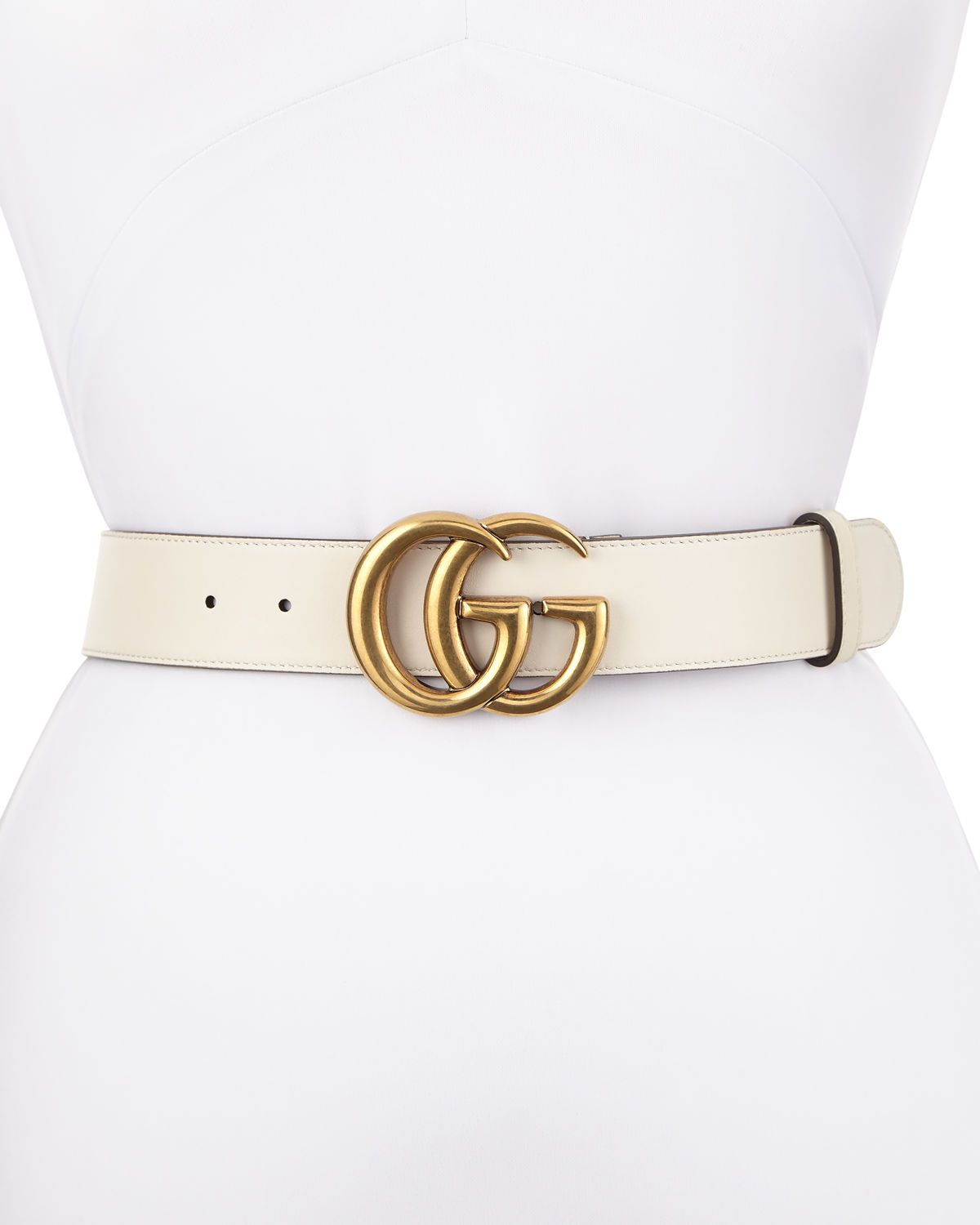 017ce5e1ca10 Gucci Leather Belt with GG Buckle | Gift ideas/wish list | Gucci ...