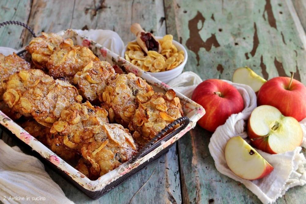 Rose del deserto alle mele con uvetta - 2 Amiche in Cucina