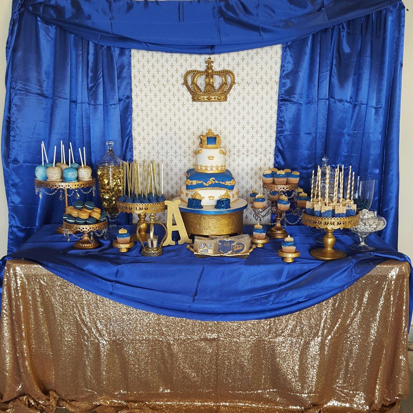 royal prince baby shower royal prince dessert table desert tables