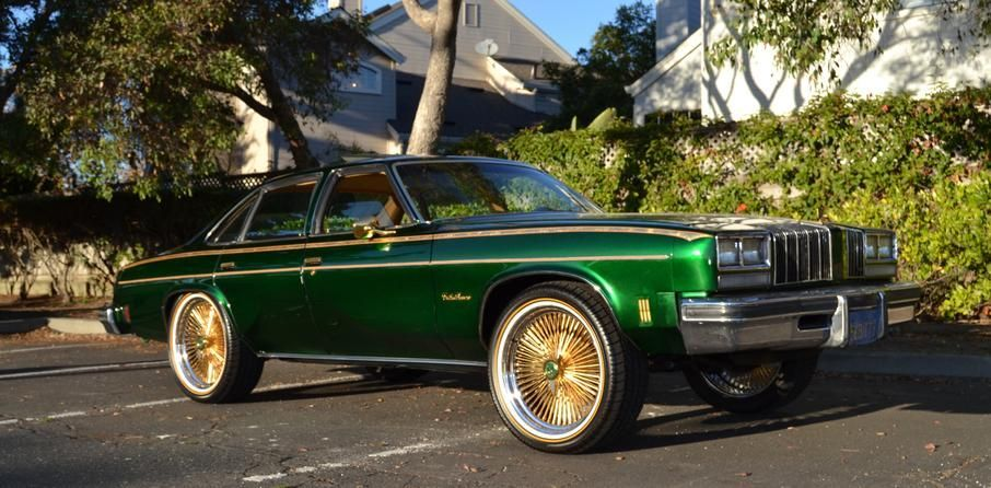 1977 Candy Green Cutlass And Vogues Green And Gold Donk Cars Custom Cars Old School Cars