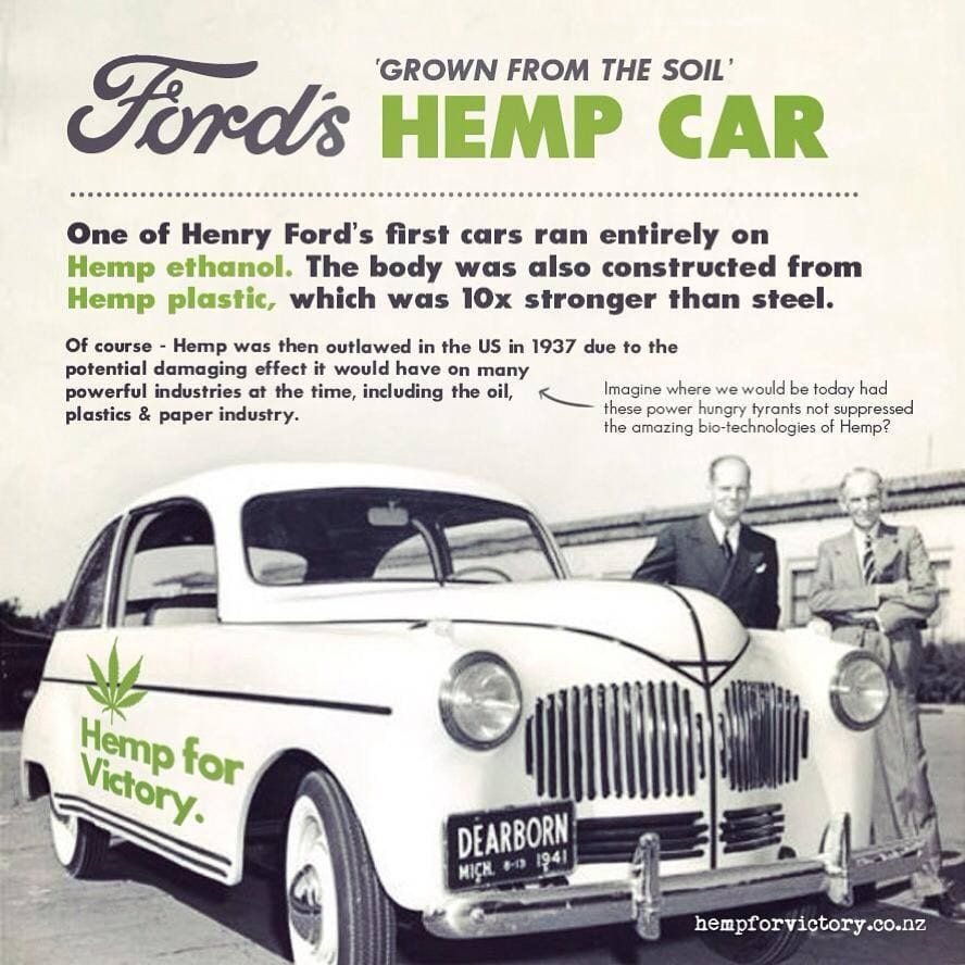 Henry Ford S Hemp Car Hemp Powered Hemp Made Car Hemp Henry Ford First Car