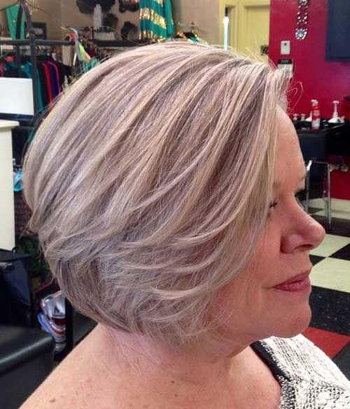 Outstanding Bob Haircuts For Older Women Bob Haircut And Hairstyle Ideas Hair Styles Gorgeous Gray Hair Short Grey Hair