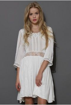 Boho Lace Love Mid-Sleeve Dress - Dress - Retro, Indie and Unique Fashion