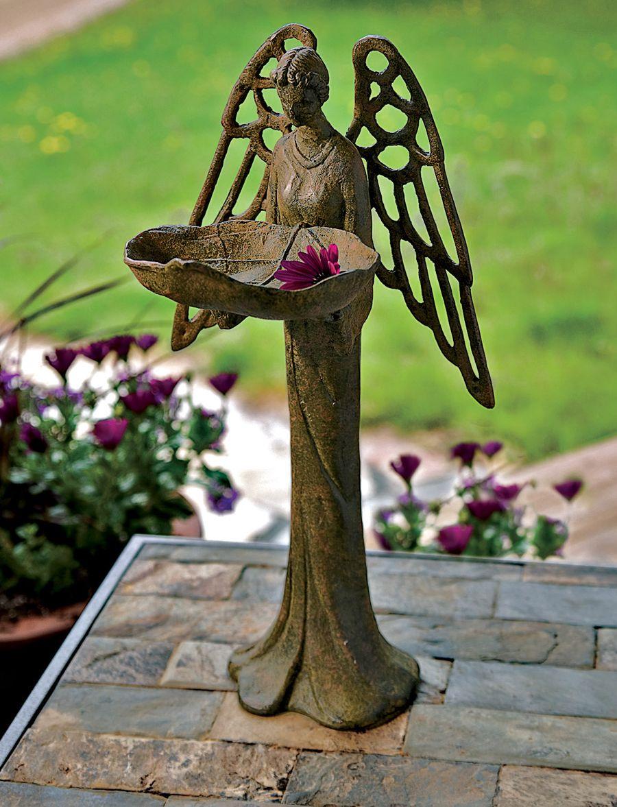Angel bebedero para aves 7mo sol pinterest ave for Bebederos para aves jardin