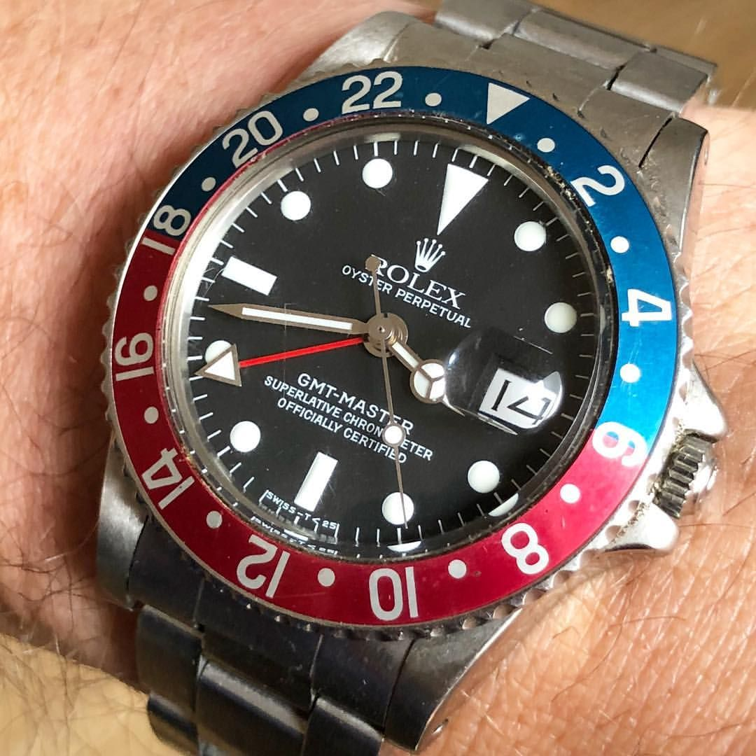 White as can be Rolex GMT Master pepsi 1675 in great shape