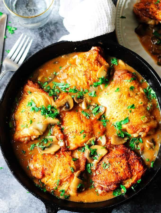 Photo of Chicken Chasseur or Hunter's Chicken-Chicken Chasseur or Hun…