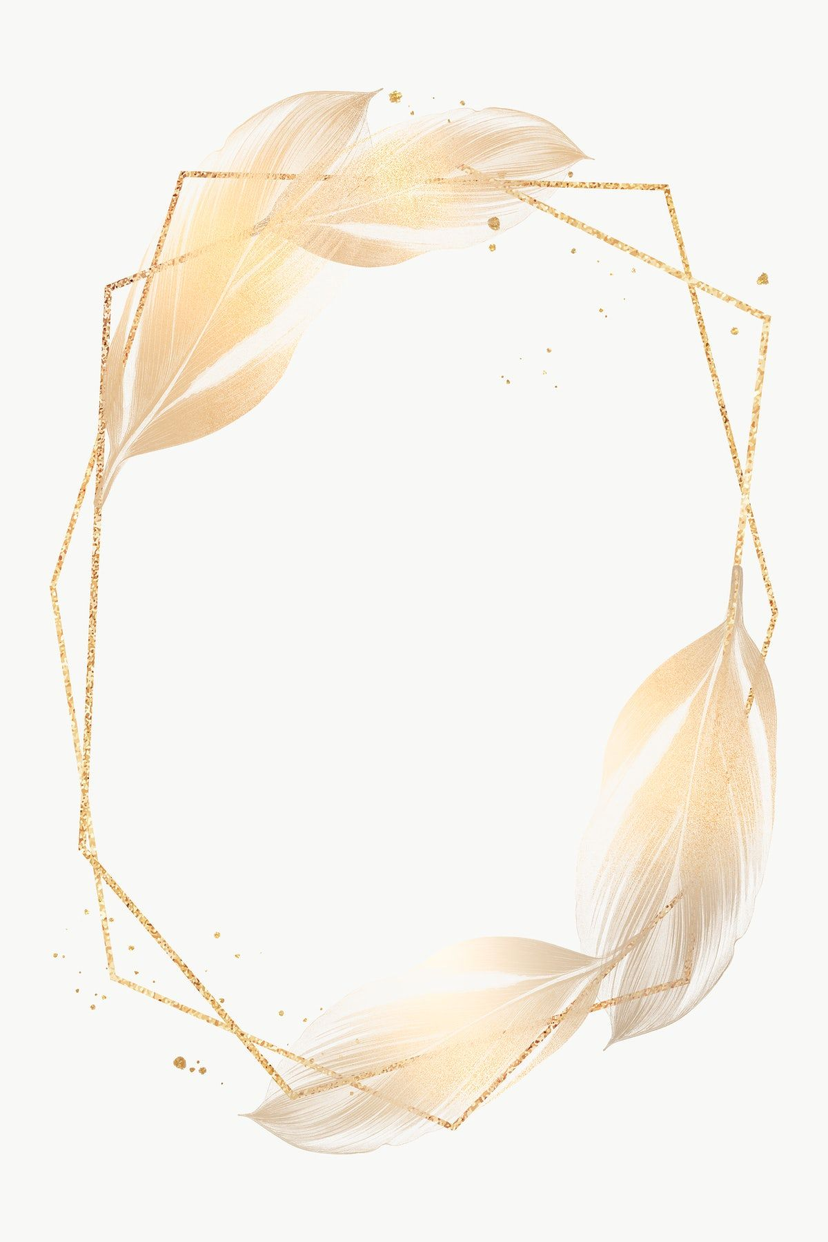 Golden Dracaena Recina On A Hexagon Shaped Frame Design Element Free Image By Rawpixel Com N Flower Graphic Design Flower Background Iphone Flower Graphic