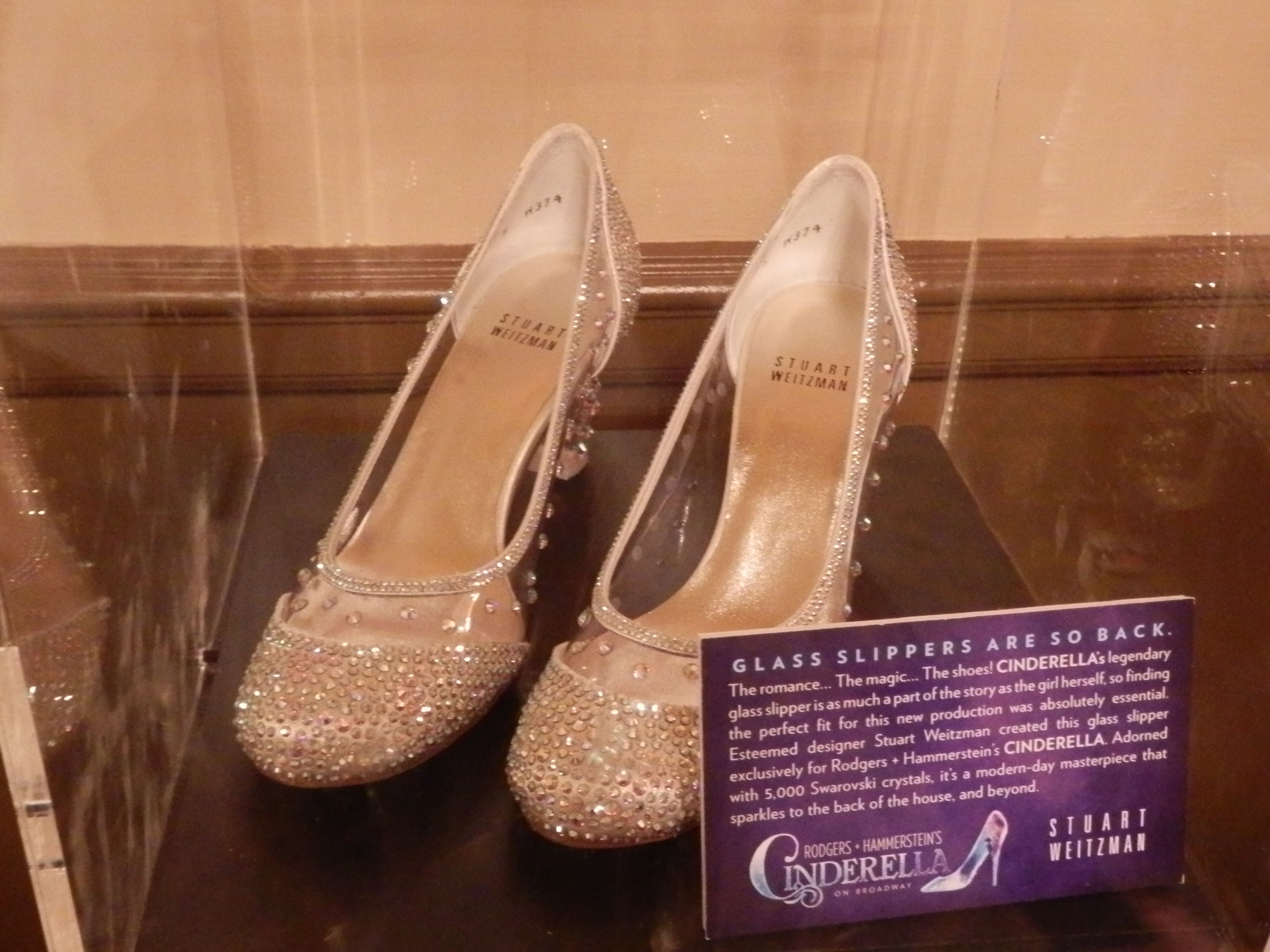 The Actual Custom Designed Glass Slippers By Stuart Weitzman