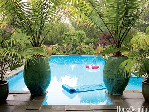 40 Swimming Pools You'll Want to Lounge In ASAP is part of Pool landscaping, Pool plants, Backyard pool, Backyard, Outdoor, Tropical pool - We're ready to float the day away