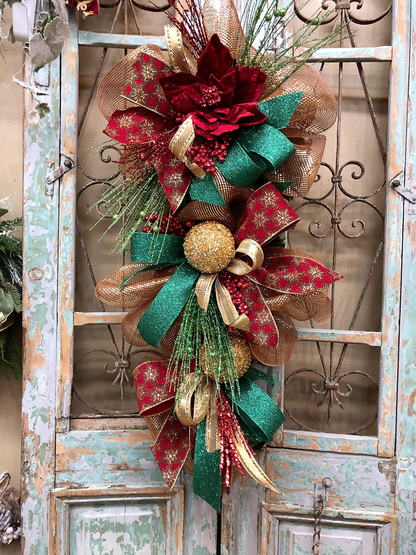 Christmas Swags Christmas Wreath Christmas Door Decor