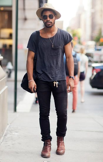 e9d4975240 OH HEY   taj reed simple inspiration hat shirt black jeans shoes bag  weekend look streetstyle fashion men tumblr
