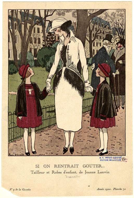 11d0d7c270 Fashions by Jeanne Lanvin in fashion plate by Pierre Brissaud for  La Gazette  du Bon Ton