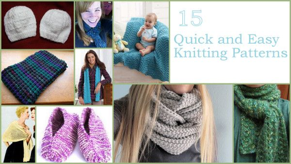30 Quick And Easy Knitting Patterns Easy Knitting Knitting