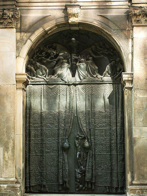 Detailed arch and metal Door at St. James Church in Hamburg Germany & Hamburg - Hauptkirche St. Jacobi   Hamburg Doors and Gates