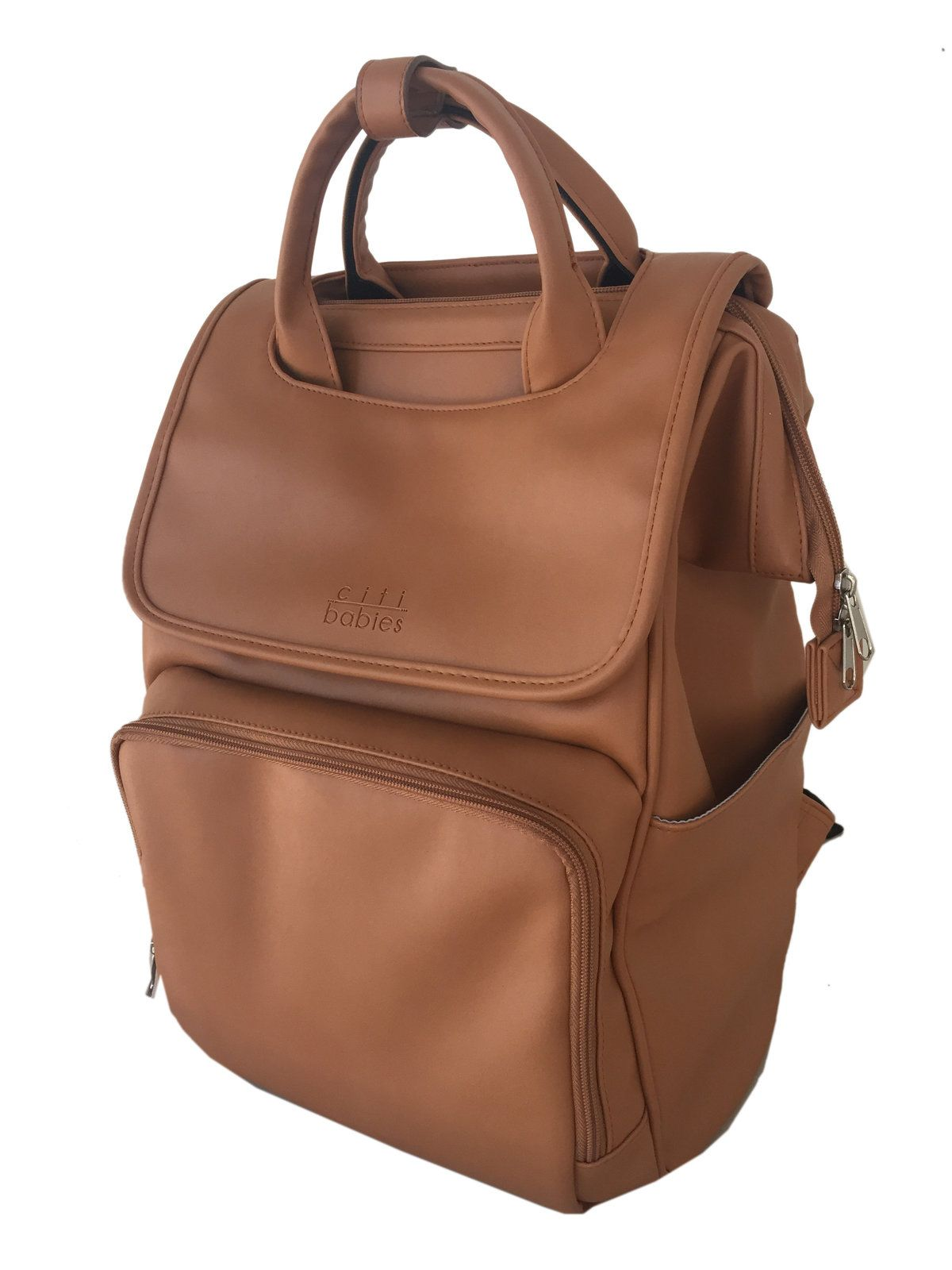 a40dfe32eaf35 The Explorer faux leather diaper bag is the perfect mixture of beauty,  brains and brawn . Modern style, waterproof, and 10 organized pockets, ...