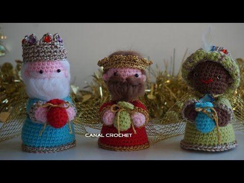Tutorial De Amigurumis Navideños : Reyes magos amigurumi tutorial youtube amigurumi