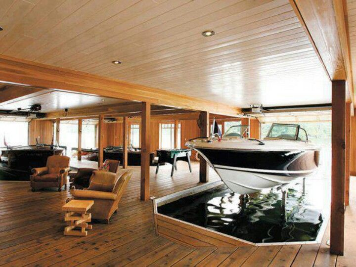 Because I Will Need A Place To Park My Boat House Boat House Boat Garage
