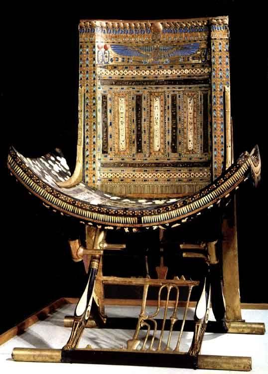 Chair | Tomb of Tutankhamun | Ancient egypt history ...
