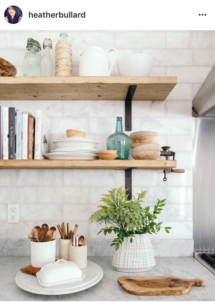 Open Shelving Pinterest Shelby Taylor11 Kitchen Shelf Decor