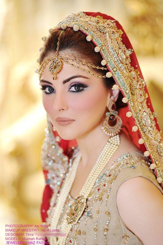 Simple Yet Elegant Bridal Make Over Indian Pakistani Brides