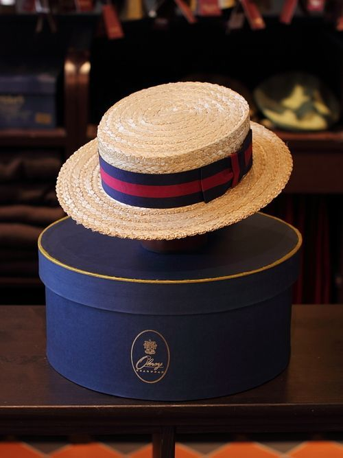 Brooks Brothers . . .A sharp Summer hat complete with a storage box makes for a nice overall appearance . . .