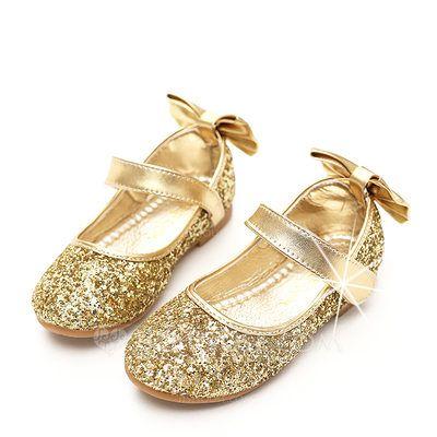 c3158effff15b  18.79 €  Fille de Glitter mousseux talon plat bout rond Bout fermé  Chaussures plates avec Bowknot Pailletes scintillantes Velcro