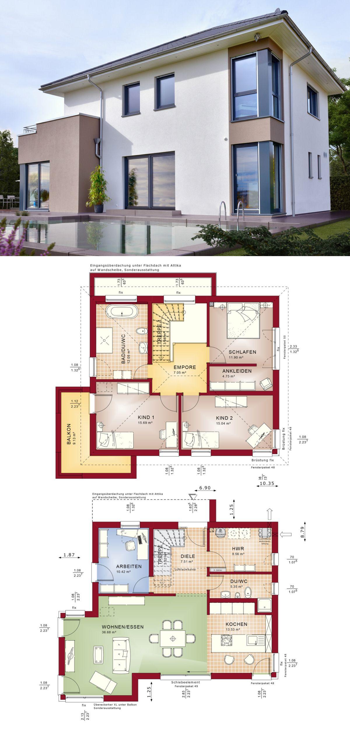 moderne stadtvilla - einfamilienhaus concept m 145 bien zenker, Wohnzimmer dekoo