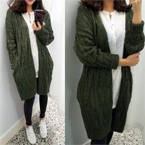 green capsules Open-Front Cable-Knit Cardigan | Style: Fall ...