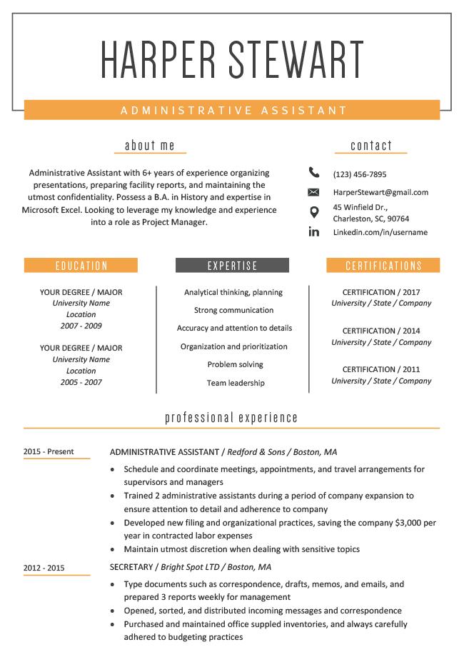Windsor Orange | RG | Creative resume templates, Creative ...