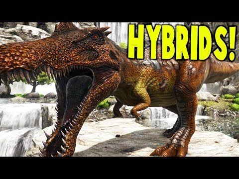 awesome Ark Survival Evolved - MAKING DINOSAUR HYBRIDS, SPINOREX