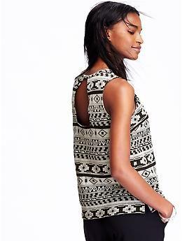 daa0d64cedf46a Women's Jacquard Sleeveless Tops | Old Navy | Fashion Smashion ...