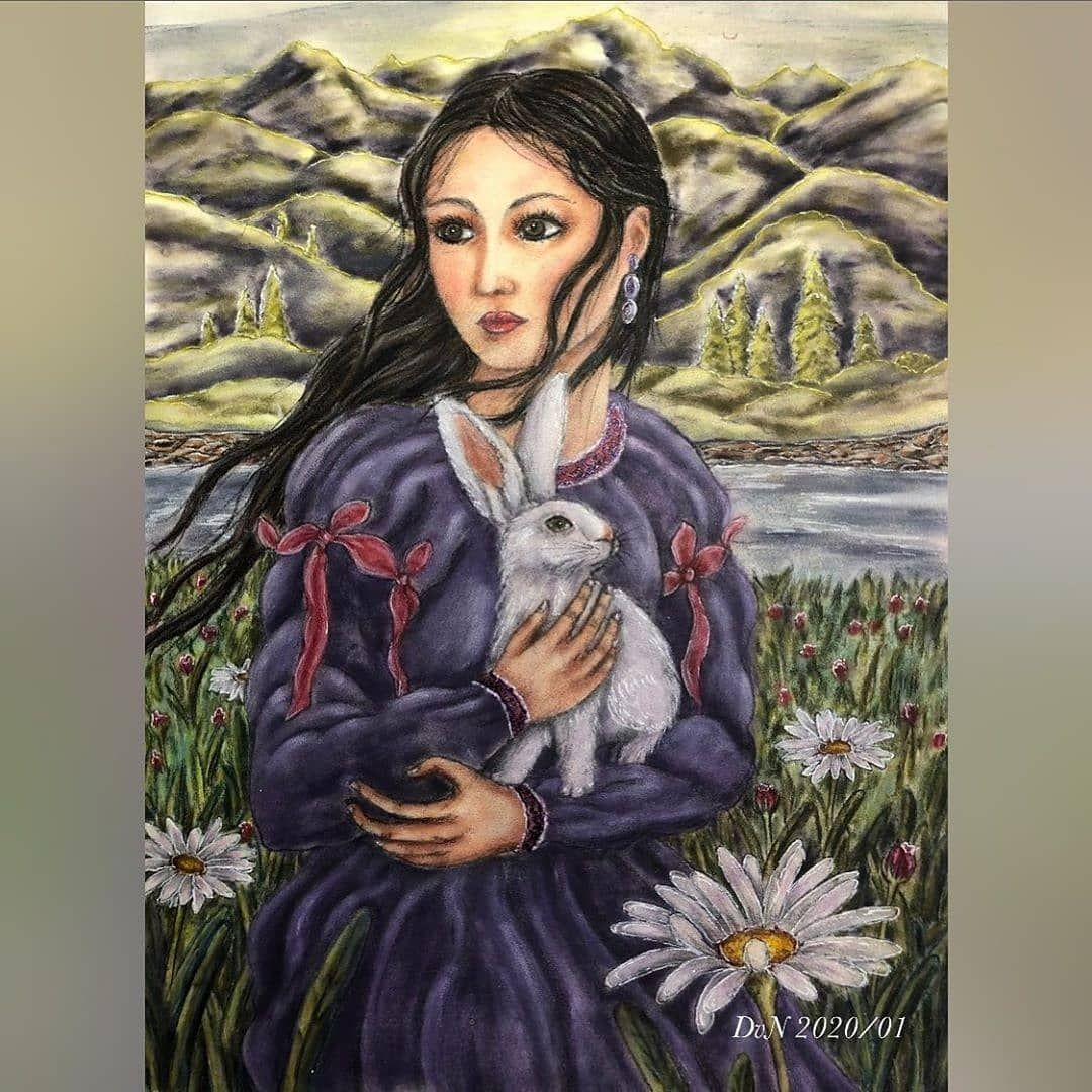 Lady with a Rabbit by DesiréVN from Art Movements Series