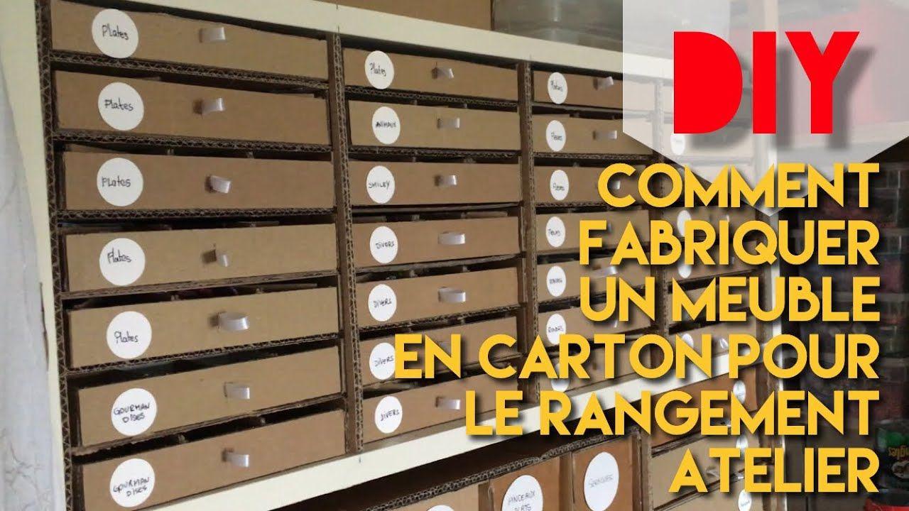 42 Diy Comment Fabriquer Un Meuble En Carton Pour Le Rangement Atelier Meuble En Carton Comment Fabriquer Des Meubles Rangement Fimo