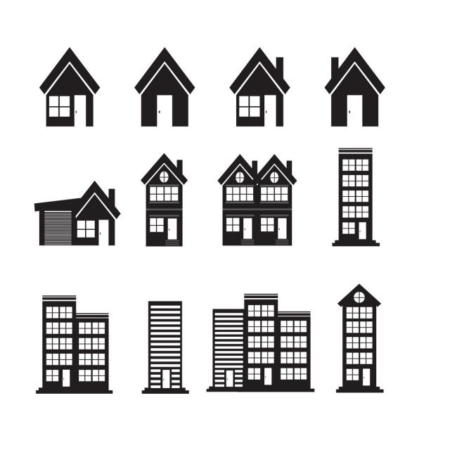 Home Icon And Real Estate Concept Home Clipart Home Icons Concept Icons Png And Vector With Transparent Background For Free Download Building Icon Home Icon Vector Icons Free