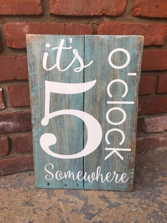 It's 5 O'clock Somewhere Barn Wood Sign, Jimmy Buffet Wood Sign, Porch Wood Sign, Pallet Sign, Party Gift, Drinking Sign, Margaritaville