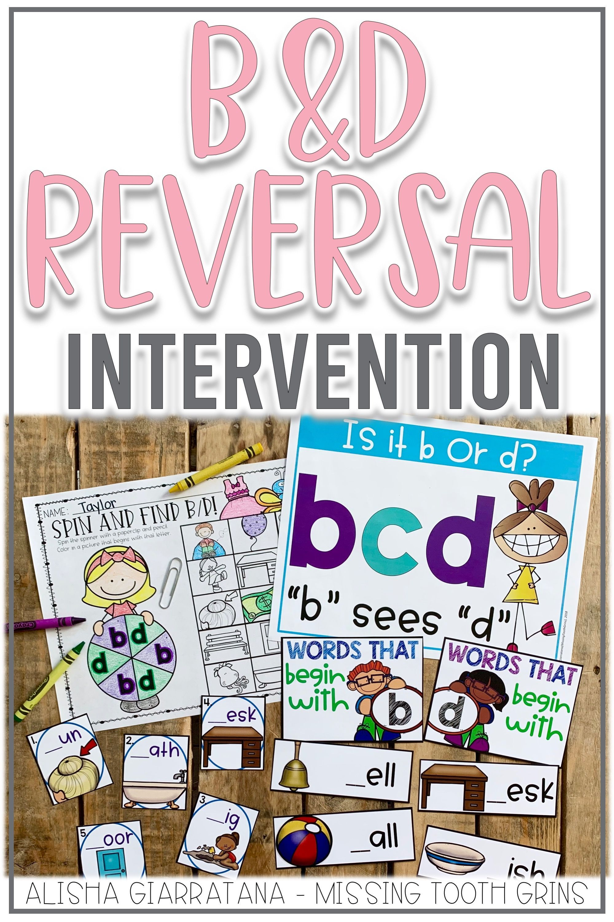 B And D Reversal Activities With Images
