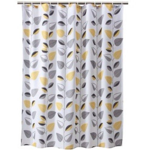Yellow Shower Curtains Gray, Yellow And White Shower Curtains