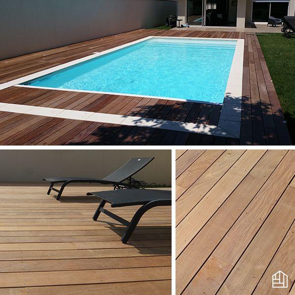 piscine terrasse bois de 80 m en ip optez pour lu0027exotisme dans votre pose margelle bois - Pose Margelle Bois Piscine
