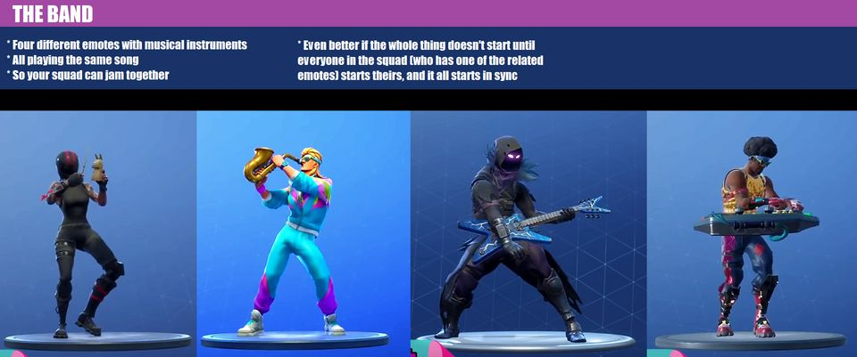 This Fortnite Band emote concept could tie several musical