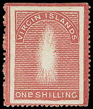 Virgin Islands 1867 1 shilling missing virgin | Rare stamps | Rare